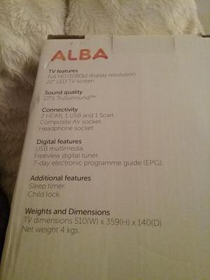 Brand new ALBA TV 22""