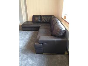 Corner Chaise Sofa + 3 Seater + Stool in Sittingbourne