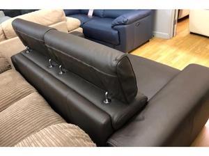 DFS Kalamos 2 seater brown leather sofa in Swansea