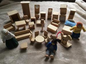 ELC dolls house furniture + people