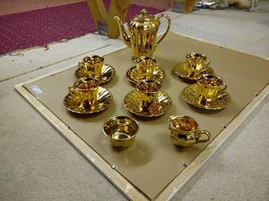 Gold Leaf Coffee Set