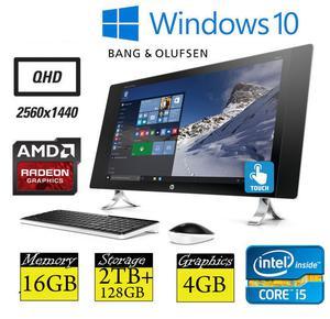 "HP Envy 24-n059na 24"" QHD Touchscreen Quad Core i5 16GB RAM"
