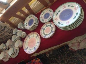 Habitat Hand painted Dinner and Tea set