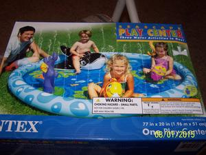 Intex EP Seascape Play Center Kids Inflatable Pool 77""