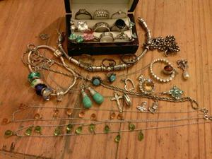 Job lot Real silver jewellery
