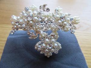 Jon Richard Bridal Hair Comb - Silver and Pearl