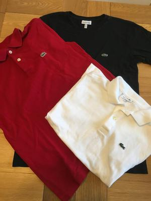Lacoste 2 x polo shirts & t shirt
