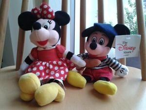 Minnie & Mickey mouse old soft toys