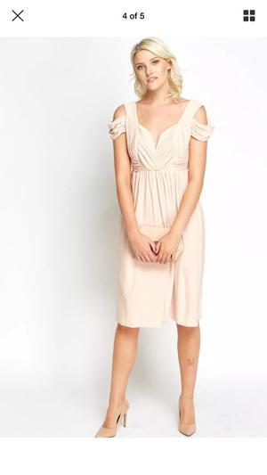 Size 12 peach asos bridesmaid dress
