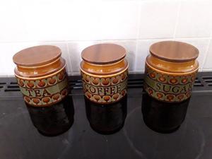 Vintage Hornsea pottery storage jars