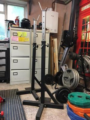York Fitness Heavy Duty Squat Stands - Hardly Used