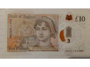 £ pound notes AA01. Four available. Rare collectable