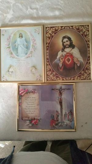3 Framed prints of Jesus Christ