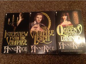 3 X Anne Rice novels Vampire Chronicles paperbacks in