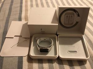 Apple Watch 42mm Stainless Steel with White Sport Band