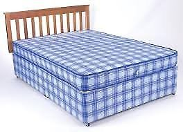 Brand New Comfy 4ft6 Standard Double Bed set in Blue FREE Delivery