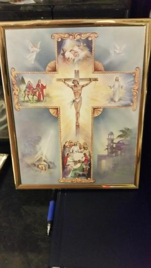 "Framed print of the story of Christ 8"" by10"""