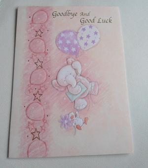 Goodbye & Good Luck Cards - Large