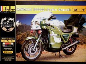 """Heller 1:8 Kawasaki ZGG """"Godier Genoud"""" Motorcycle Gift"""