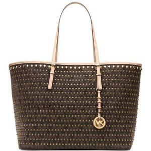Michael kors brown studded tote bag & matching purse