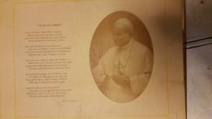 Print of pope John paul11