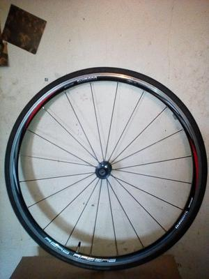 Shimano R500 front wheel with tyre 700c road race hybrid bike black radial spokes **Swap possible**