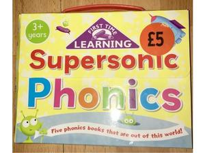 Supersonic phonics set of 5 books - new in Bracknell