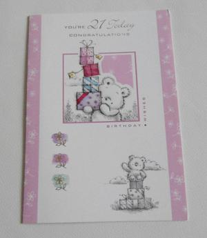21st Birthday Cards - Medium