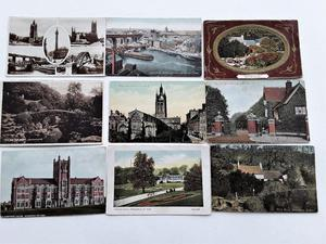 25 Vintage Postcards - Whitley Bay & Newcastle Area