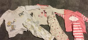3-6 months girl pj sets