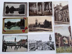 32 Vintage Postcards - Durham, Barnard Castle & Darlington.