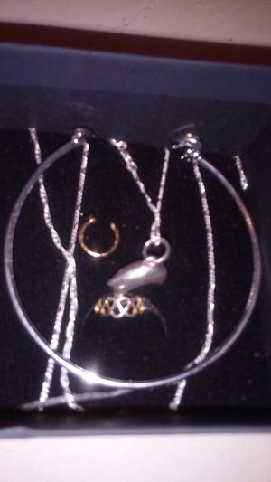 9ct gold and 925 silver