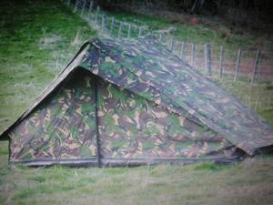 ARMY 2 BERTH DUTCH CAMOUFLAGE TENT X 2.