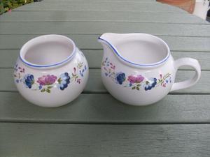 BHS 'Priory' Range Milk jug and Sugar Bowl