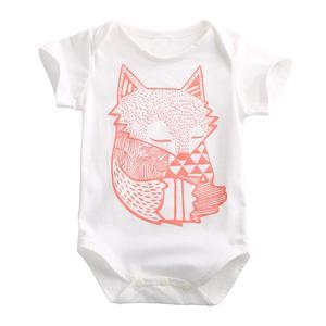 Cute Newborn Toddler Baby Boys Girls Fox Romper Jumpsuit