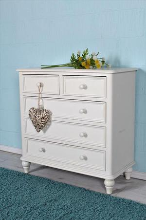 DELIVERY OPTIONS - CHEST OF 5 DRAWERS SPRAYED WHITE HEAVY