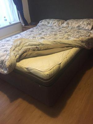 Double bed + mattress + top-mattress
