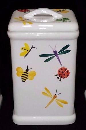 HUG BUG MEDIUM CANISTER Ladybug Dragonfly AT HOME