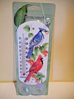 NEW Springfield Green Indoor / Outdoor Tube Thermometer