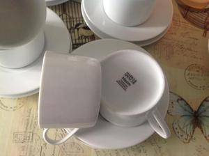 Porcelain coffee cups and saucers for sale