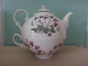 Portmeirion Tea for One Pot & Cup set