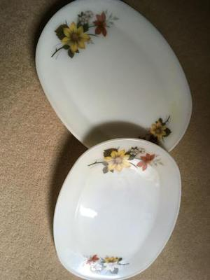 Set of 6 Pyrex retro large dinner plates