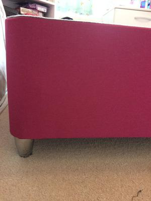 Single bedbase and matching headboard