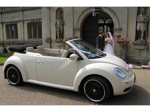 VW BEETLE WEDDING CAR HIRE LEICESTER & EAST MIDLANDS in