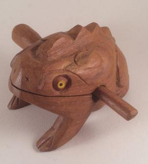 Wooden Frog Carving - Hand Carved Croaker Musical Instrument
