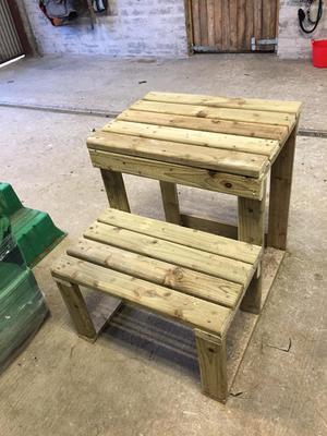 Wooden horse mount