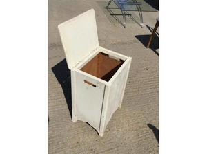 wooden box, ideal for laundry or toy storage, 50's hinged