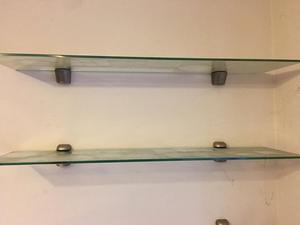 3 glass shelves