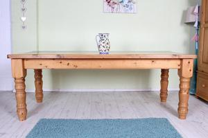 DELIVERY OPTIONS - 7 FT SOLID PINE FARMHOUSE KITCHEN TABLE
