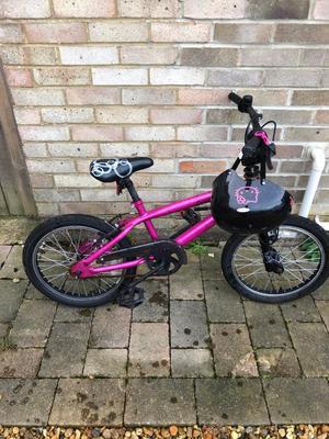Girls' BMX Bike & helmet